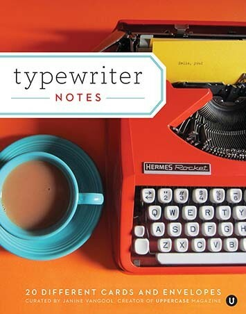 Typewriter Notes features 20 different note cards with classic typewriter images.