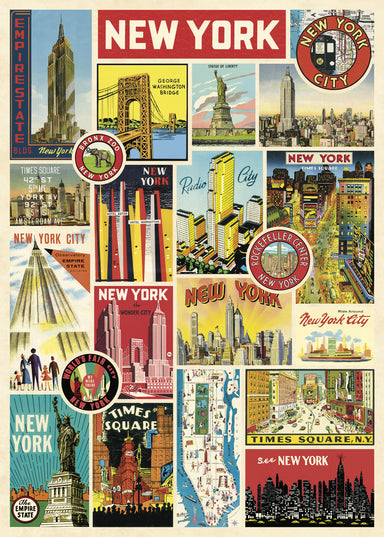 Another way to celebrate the city that never sleeps- the Cavallini New York City Labels Decorative Wrap!