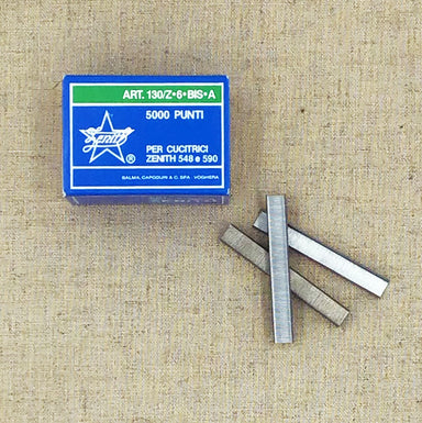 Zenith 6mm Chisel Point Staples- Box of 5000