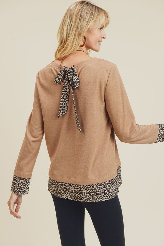 The Lila Leopard Top