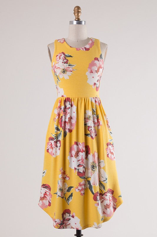 Thinking About You Dress (Yellow)