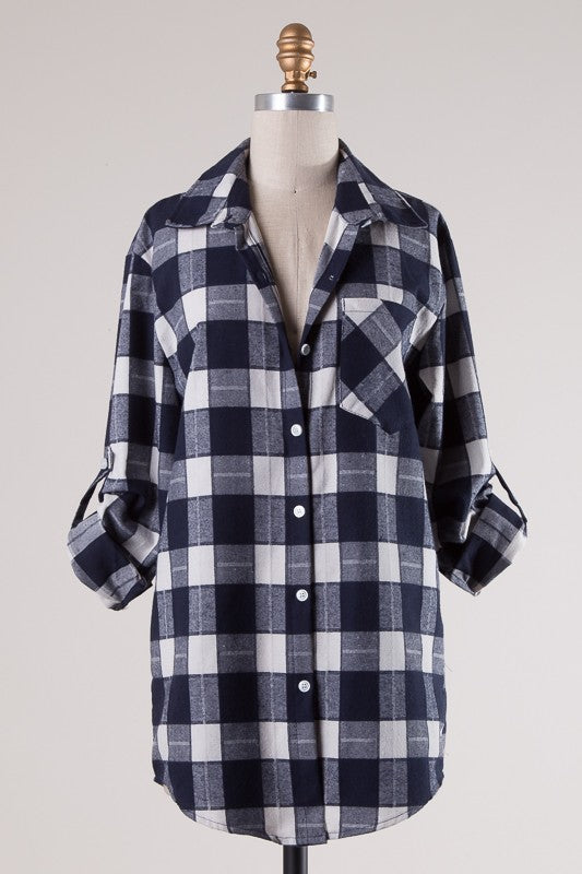Casual Days Plaid Top