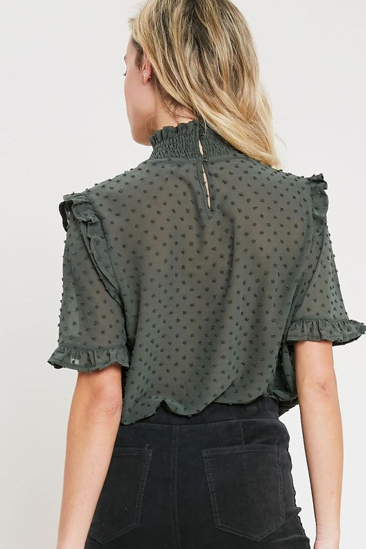 The Sophia Top (Olive) (Preorder)