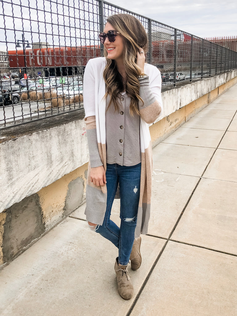 03b12c3f7be43 The Amelia Duster (Ivory) – Hadley Rae Boutique