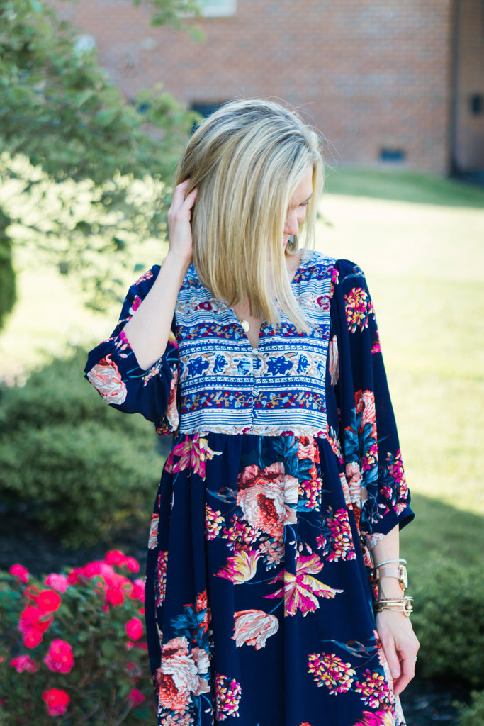 The Willow Dress (Navy)