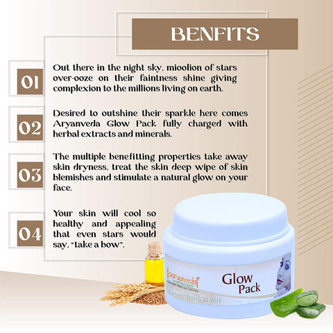 Aryanveda Unisex Glow Pack 100g, Glow That Coys Sprinkle Of Stars, Coys Skincare - WinKart.co