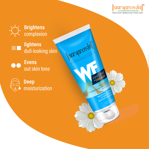 Aryanveda Whitofair Face Wash with Red Algae 60ml, Advanced Fairness Face Wash, Brightens Up Skin - WinKart.co