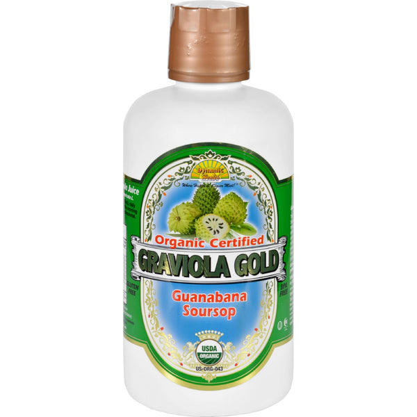 Dynamic Health Juice  Graviola Gold  Organic Certified  32 oz