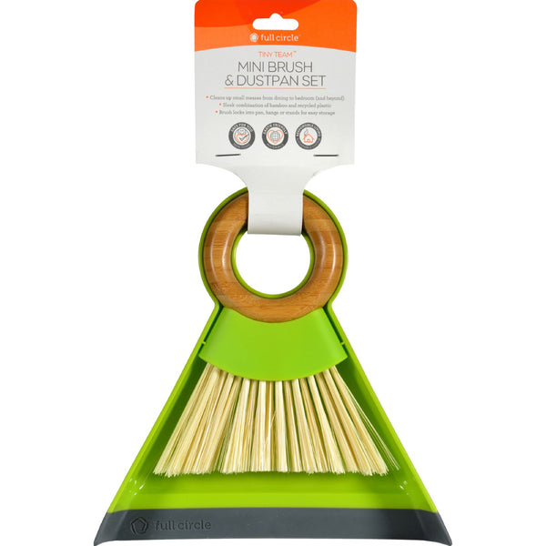 Full Circle Home Dustpan and Brush Set  Mini  Tiny Team  1 Set