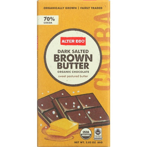 Alter Eco Dark Salted Brown Butter Organic Chocolate (12x2.82 OZ)