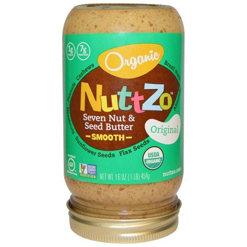 Nuttzo Organic Seven Nut & Seed Butter, Smooth, Original (6X16 OZ)