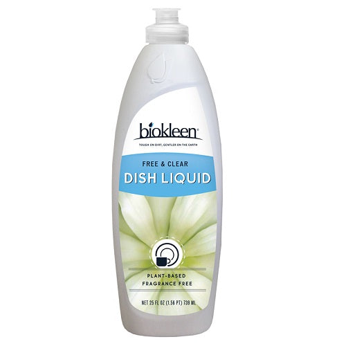 Biokleen Natural Dish Liquid Free & Clear (6x25 OZ)