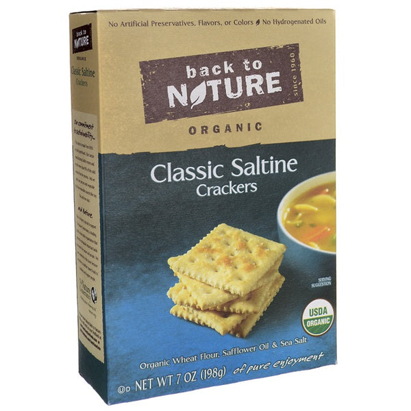 Back To Nature Organic Classic Saltine Crackers  (6x7 OZ)