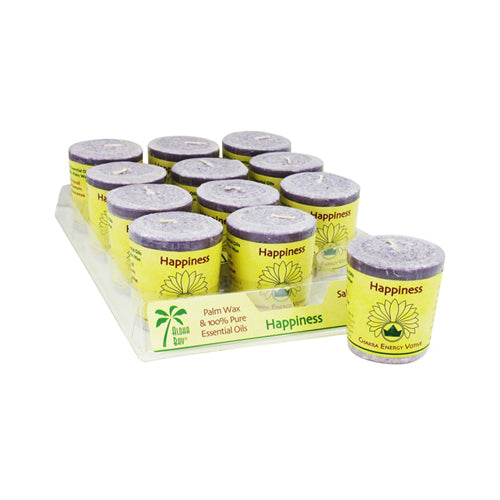 Aloha Bay Chakra Votive Candle Happiness (12x2 Oz)