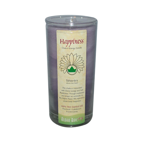 Aloha Bay Chakra Candle Jar Happiness (1x11 Oz)