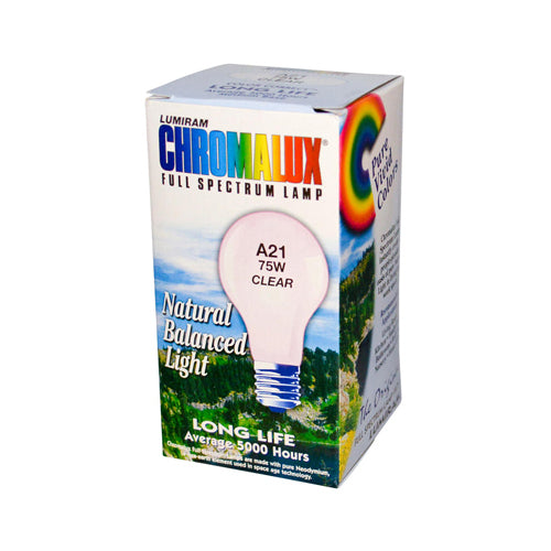 Chromalux Lumiram Full Spectrum A21 75W Clear Light Bulb