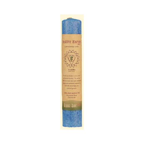 Aloha Bay Chakra Pillar Candle Positive Energy Blue (1 Candle)