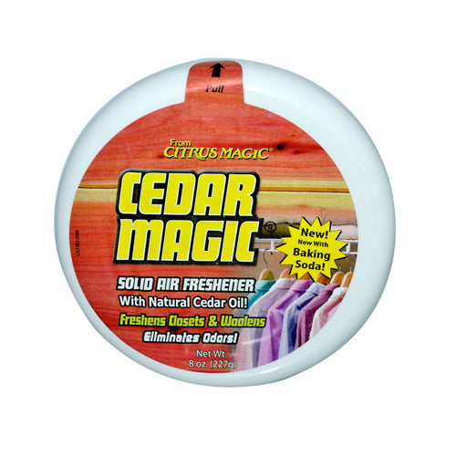 Citrus Magic Cedar Magic Solid Air Freshener (6 Pack) 8 Oz
