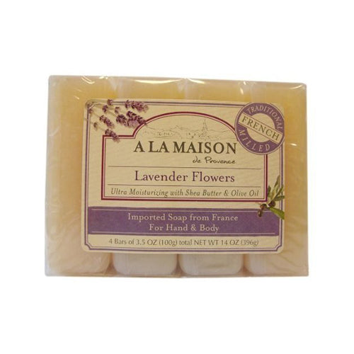 A La Maison Bar Soap Lavender Flower Value (4 Pack)