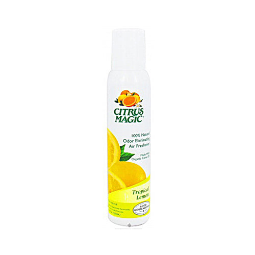 Citrus Magic Tropical Lemon Air Freshener-Non-Aerosol Spray 3.5 Oz (6 Pack)