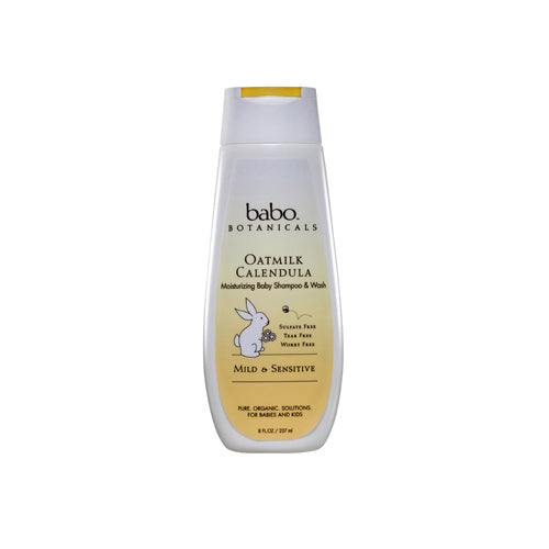 Babo Botanicals Moisturizing Baby Shampoo and Wash Oatmilk Calendula (8 fl Oz)