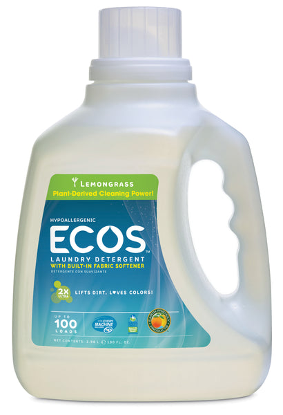 Earth Friendly Ecos Lemongrass Ultra Liquid Detergent (1x100 Oz)