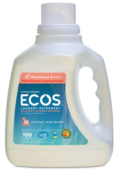 Earth Friendly Ecos Magnolia & Lilies Ultra Liquid Detergent (1x100 Oz)
