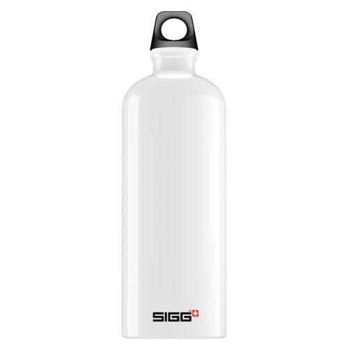 Sigg Water Bottle Traveller White  1 Liter