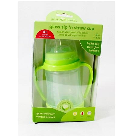 Green Sprouts Cup  Sip N Straw  Glass  6 Months Plus  Green  1 Count