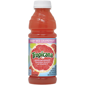 Tropicana Juice Beverage Ruby Red Grapefruit Flavored 15.2 Fl Oz