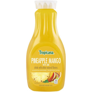 Tropicana Drink Pineapple Mango with Lime 52 Fl Oz Bottle