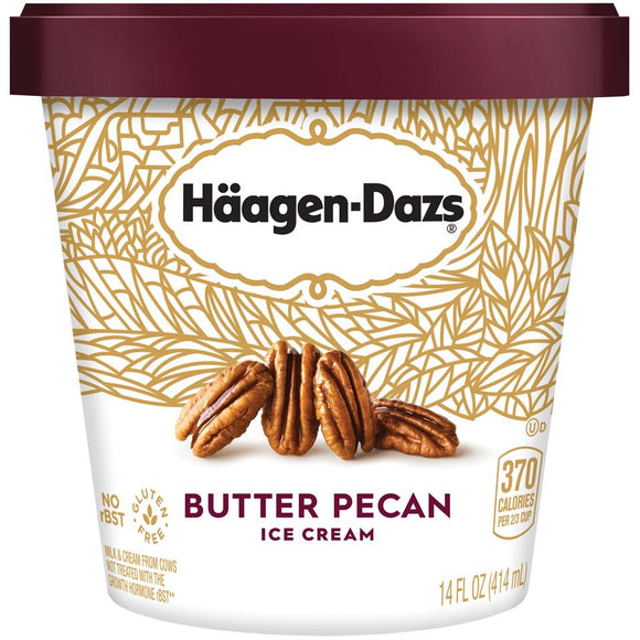 Haagen-Dazs Ice Cream - 14 oz -- Butter Pecan - Earth's Basket