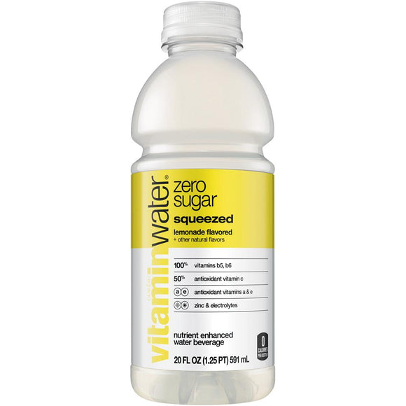 Vitamin Water Zero Squeezed 20oz Bottle - Earth's Basket