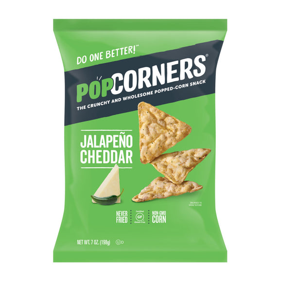 Popcorners Crunchy and Wholesome Popped-Corn Snack Jalapeno Cheddar 7 Oz