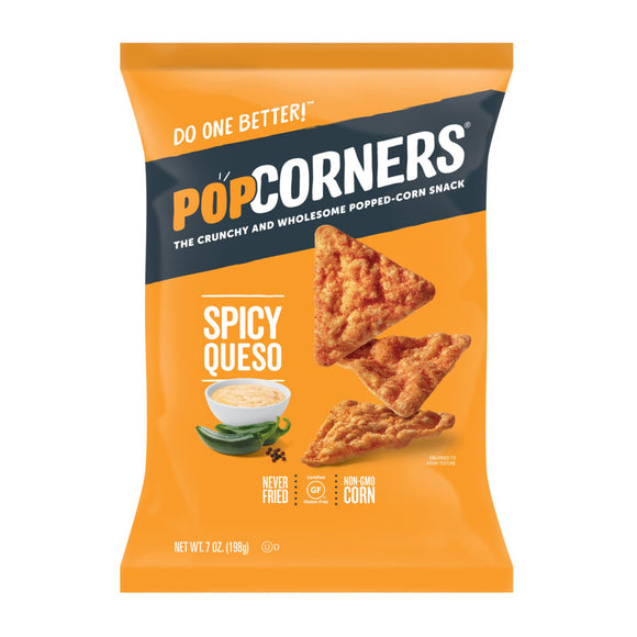 PopCorners The Crunchy And Wholesome Popped-Corn Snack Spicy Queso 7 Oz