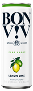 BON V!V Spiked Seltzer Lemon Lime - Earth's Basket