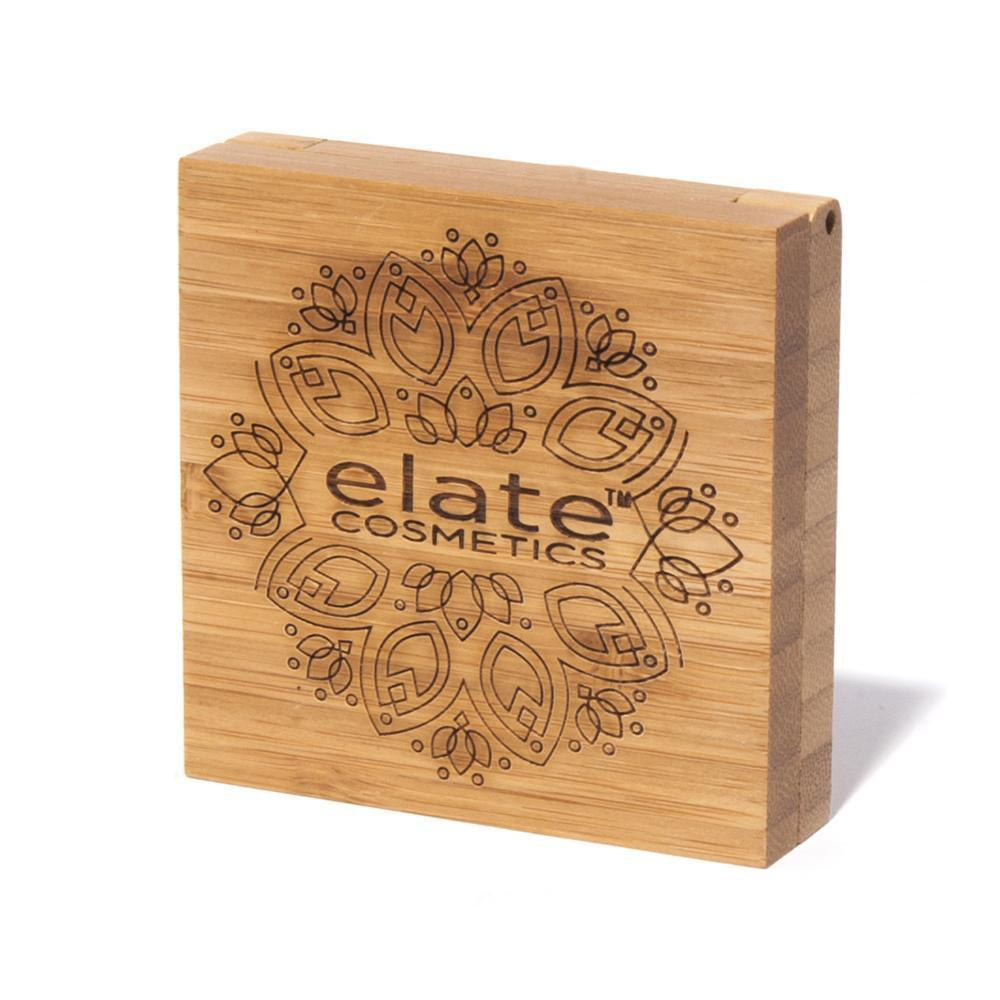 elate cosmetics vegan, sustainable and cruelty-free clean beauty bamboo clean beauty foundation compact with mirror