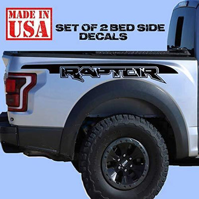 Ford F150 Raptor SVT bed Side BIG Outline Distress graphics decal sticker Set OccasionPrints
