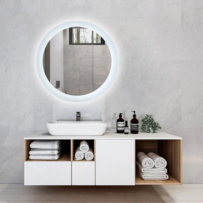 Large Round 24 in Wall Mount Vanity Mirror - OccasionPrints