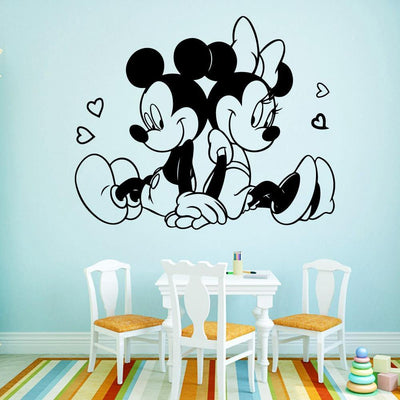 Mickey Mouse In Love Wall Art Decal - OccasionPrints
