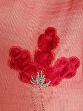 Load image into Gallery viewer, Festive Butterfly in Red Flowers Silk Wool Fleets