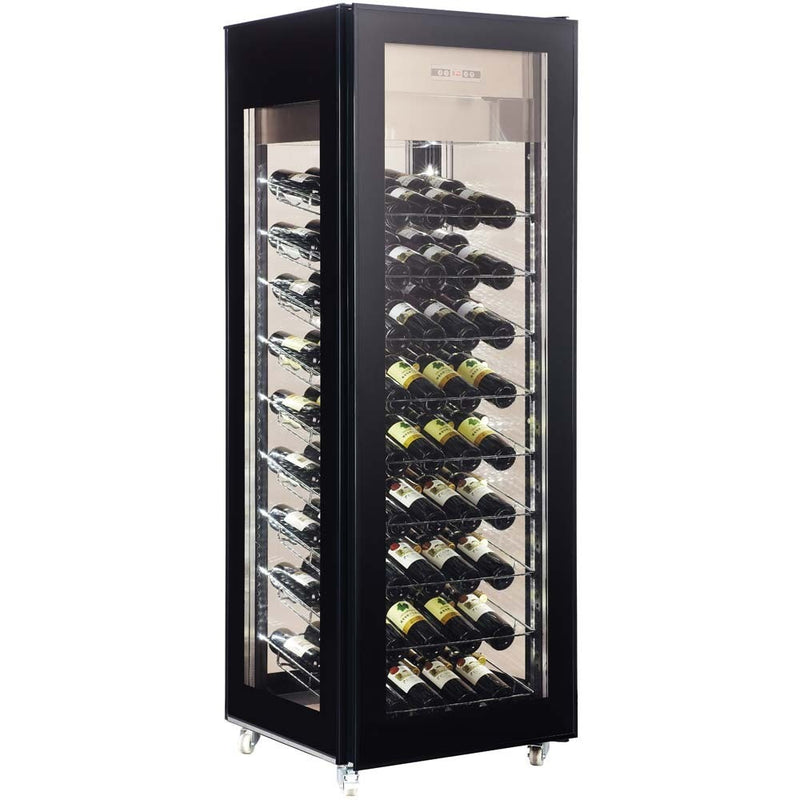 "MWS400 75"" Vertical Refrigerated Wine Glass Display Case"