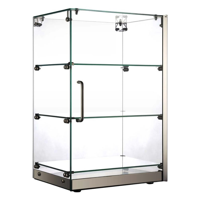 "SA60 16"" Vertical Straight Glass Countertop Dry Display Case"