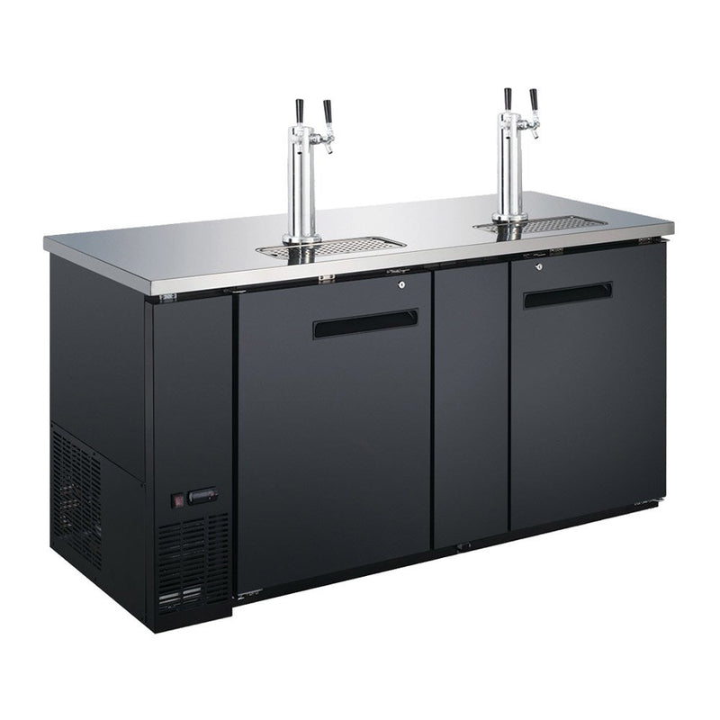 UDD-24-60 60″ Refrigerated Direct Draw Beer Dispenser - 15.8 Cu. Ft.