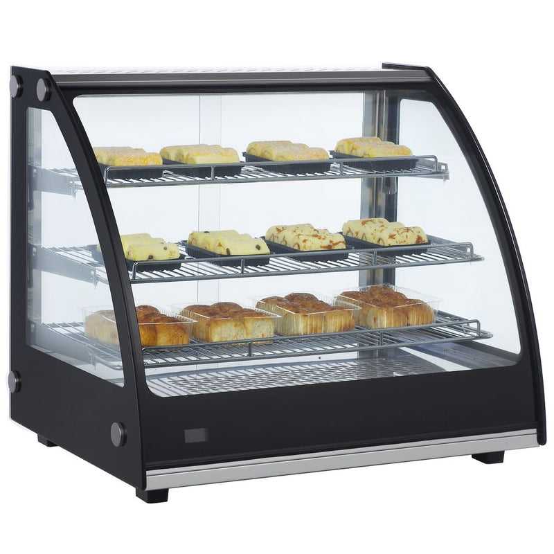 "MHC131 27"" Heated Curved Glass Countertop Display Case"
