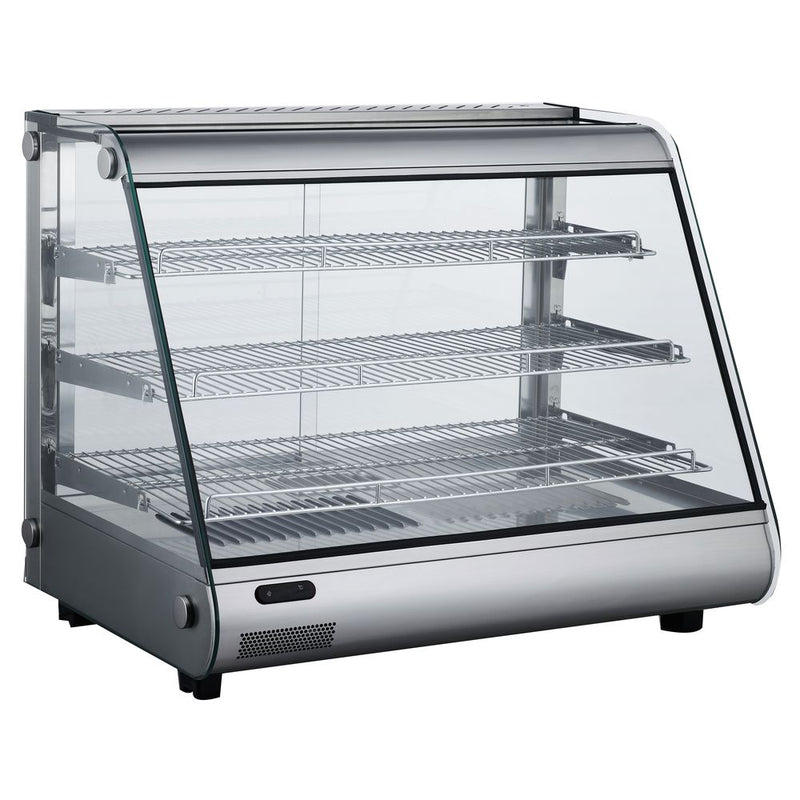 "MHC161 34"" Heated Slanted Glass Countertop Display Case"