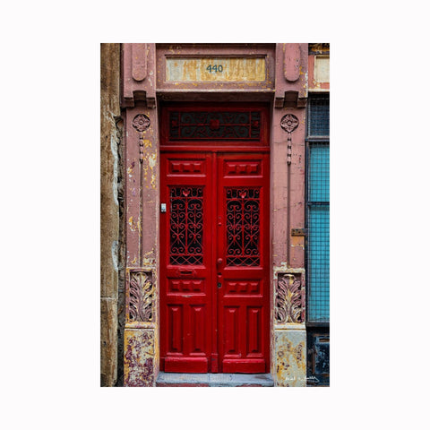 """Porto Red Door 440"" by Texas artist photographer Mark Holly 