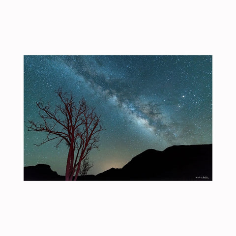 """Milky Way Over Elephant Mountain"" landscape photography by Texas artist photographer Mark Holly 