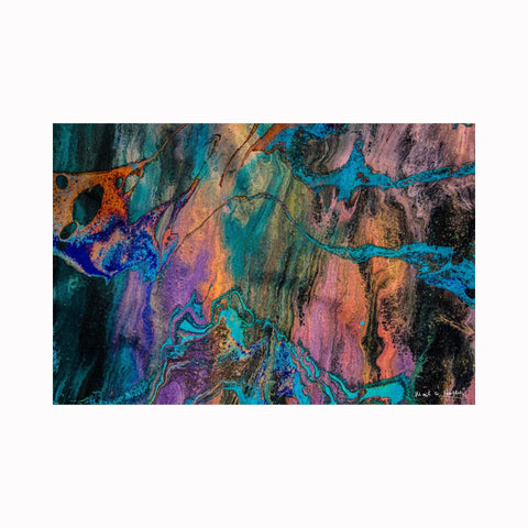 """The Colors of Covid Abstract"" by Texas artist Mark Holly 