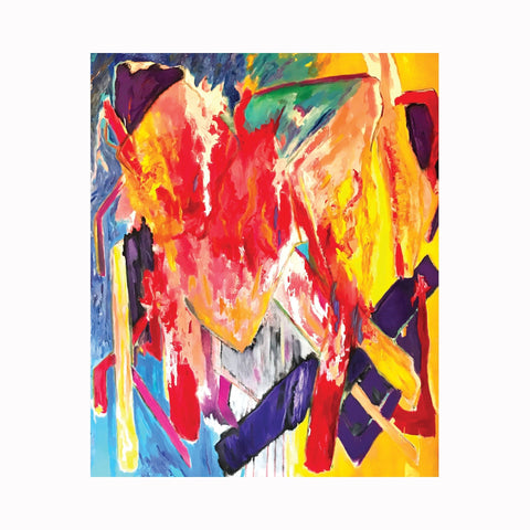 """Ah!"" is an original abstract expressionist painting by Texas artist Robert ""Bob"" Lombardi 